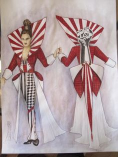 Circus Couture 2011, 'Revolution' design rendering - WEPdesigns.com