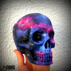 Space Stars Galaxy Ceramic Skull Space, Stars, Cosmic, Alien Style Original Art Custom Painted One Kind! Skull Artwork, Skull Painting, Skull Drawings, Sugar Skull Art, Sugar Skulls, Skull Illustration, Crystal Skull, Skull Design, Skull And Bones