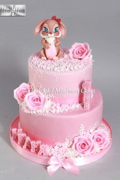 Bunny Baby 1th Birthday Cake by MLADMAN