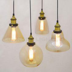Ретро Винтаж подвесные светильники прозрачное стекло абажур Лофт подвесные светильники E27 110 В 220 В для столовой украшения дома освещение