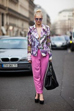 Pink Tailored Pants