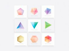 Polygonal Shapes designed by Diana Hlevnjak. Connect with them on Dribbble; Graphic Design Print, Logo Design, Dragonfly Logo, Typography Logo, Logos, Polygon Shape, Shape Design, Pentagon, Color Theory
