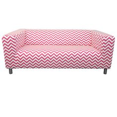 Custom IKEA Klippan Loveseat Slipcover in Pinky Chevron from Knesting,... ($198) ❤ liked on Polyvore