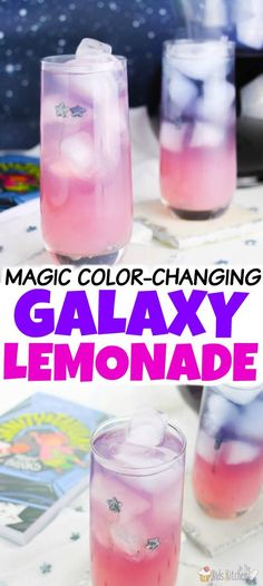 A magical color-changing Galaxy Lemonade recipe inspired by the new book, Sanity & Tallulah by Molly Brooks. A magical color-changing Galaxy Lemonade recipe inspired by the new book, Sanity & Tallulah by Molly Brooks. Easy Alcoholic Drinks, Kid Drinks, Liquor Drinks, Drinks Alcohol Recipes, Drink Recipes, Summer Drinks Kids, Drink Recipe Book, Beverages, Bourbon Drinks