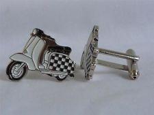 Two Tone Checker Lambretta Scooter Cufflinks. Lambretta Scooter, Cufflinks, Wheels, Shopping, Ska, Wedding Cufflinks