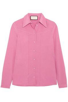 Gucci - Silk Crepe De Chine Shirt - Pink - IT48