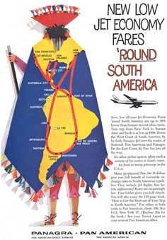 advertisement: Panagra (Pan American-Grace Airways) and Pan American World Airways | http://www.flysfo.com/