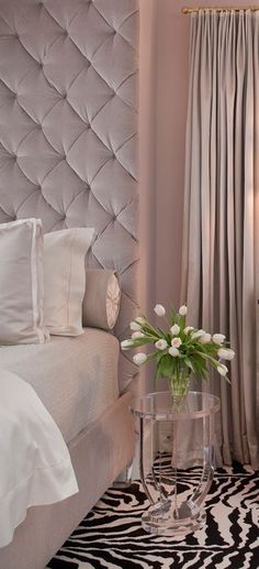 lovely soft color, mauve pinky mink  bedroom
