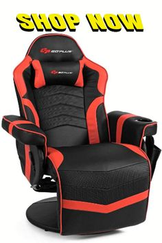 Goplus Massage Gaming Chair, Racing Style Gaming Recliner w/Adjustable Backrest and Footrest, Ergonomic High Back PU Leather Computer Office Chair Swivel Game Chair w/Cup Holder and Side Pouch. Massage gaming chair with 4 massage spots, 2 on back and 2 on lumbar, can help to relax your body and loosen up your back and waist muscles. In addition, this massage chair features 8 massage modes, as well as adjustable massage strength, positions and time, to meet your different needs.