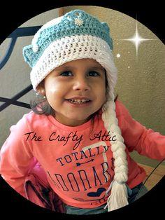 e70c4321392 Frozen Snowflake Princess Elsa crochet hat braid winter hat Dress Up  Costume you choose the size