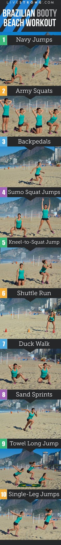 The ultimate beach-bum workout! #workoutguide