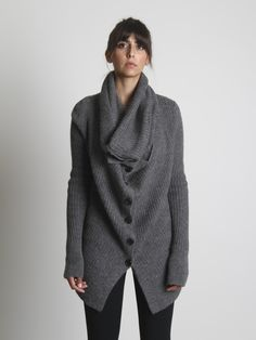 Charcoal cardigan. Perfect to lounge around in on Saturdays