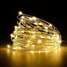 10//20//40 WARM COLD WHITE RED LED BATTERY MICRO COPPER WIRE FAIRY STRING LIGHTS