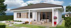 Projekt domu O110 Construction Drawings, Construction Cost, Site Plan Drawing, 3 Bedroom Bungalow, Stone Cladding, Energy Efficient Homes, Building Structure, Concrete Blocks, Plan Design
