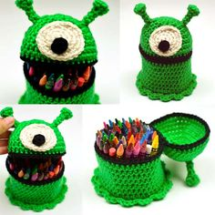 Crochet Pattern: Alien Container