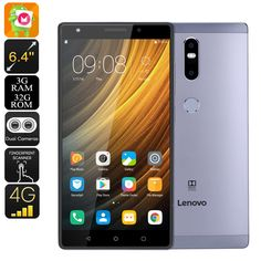 Lenovo Phab 2 Plus Android Tablet PC - Dual-IMEI, Octa-Core CPU, 3GB RAM, Android 6.0, 6.44 Inch FHD, 4G, 13MP Dual-Cam (Gray) - Lenovo Phab 2 Plus is a 6.4-Inch Android tablet computer that features two IMEI numbers - bringing along great connectivity and on-the-go entertainment.