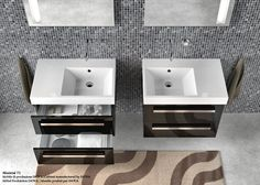 Zero Domino 75_Washbasin with asymmetric left or right sink, for wall-hung or semi inset  installation. 0, 1 or 3 tapholes. Front  chrome brass towelrail is available.  Cabinet manufactured by INOVA