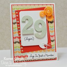 birthday number card