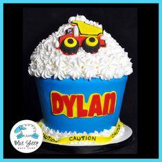 1st Birthday Contruction Themed Giant Cupcake Cake