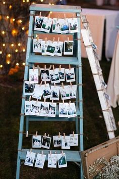 Vintage guest book ideas with ladders.