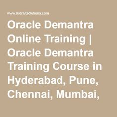 Oracle Demantra Online Training   Oracle Demantra Training Course in Hyderabad, Pune, Chennai, Mumbai, banglore,India, USA, UK,…