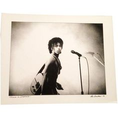 Image of Original Prince Photo Signed by Artist