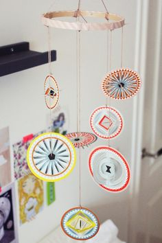 Paper mobile for nursery