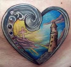 Lighthouse Tattoos And Meanings-Lighthouse Tattoo Designs, Ideas, And Pictures