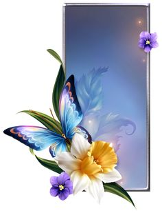 Framed Wallpaper, Flower Background Wallpaper, Butterfly Wallpaper, Butterfly Art, Flower Backgrounds, Art Background, Textured Background, Origin Of Christmas, Wedding Album Design