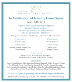 national nursing home week activity themes activity director
