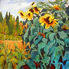 A collection of paintings by Canadian Artist Gail Johnson who's work is featured at the mountain galleries at the fairmont.
