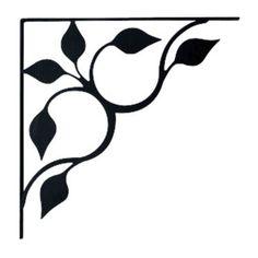 Wrought Iron Shelf Brackets Leaf Design Large