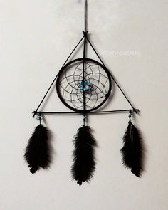 """Until the very end"" • Customized deathly hallows themed dreamcatcher for a crazy Harry potter fan  #dreamcatcher #diy  #photography #catchthydreams #mumbai #vasai #custommade #love #likes #smallbusiness #wootwoot #harrypotterdreamcatcher #harrypotterweek #harrypotter"