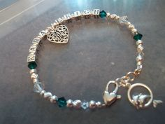 sterling silver/swarovski crystal custom made bracelets.tell us what you have in mind and we will create $40.00 #sylink
