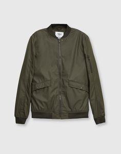 Rubberised bomber jacket - Coats and jackets - Clothing - Man - PULL&BEAR Ukraine