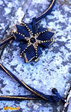 Free shipping ! 59.00 $ ! bead necklace pendant gift for women bead crochet necklace beaded harness bead crochet rope blue gold necklace beaded pendant flower pendant