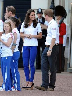 The royals await the torch