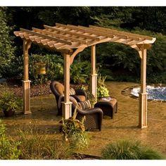Suncast® 10' x 12' Cedar Pergola from costco
