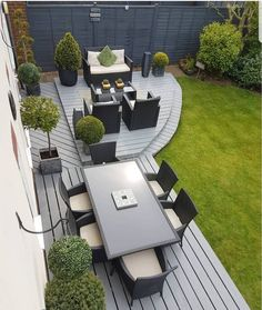Amazing Ideas for Small Backyard Landscaping - My Backyard ideas Back Garden Design, Modern Garden Design, Modern Garden Furniture, Backyard Patio Designs, Small Backyard Landscaping, Backyard Ideas, Pinterest Garden, Design Jardin, Garden Makeover