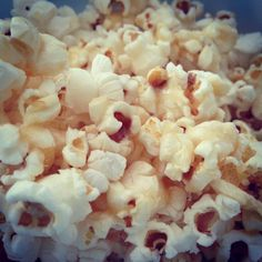 Homemade low-fat sugar-free caramel popcorn. 1/4 cup unpopped kernels, popped in a hot-air popper, 1/4 stick of butter, 3 tablespoons stevia, and 2 tablespoons boiling water boiled down to a very light caramel color, poured over popcorn. Delicious!!!!