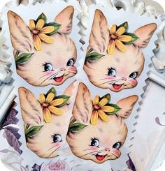 NEW  Vintage Easter Bunny Stickers / by LittlePaperFarmhouse