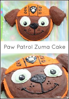How to make a Zuma Paw Patrol birthday cake from And Next Comes L