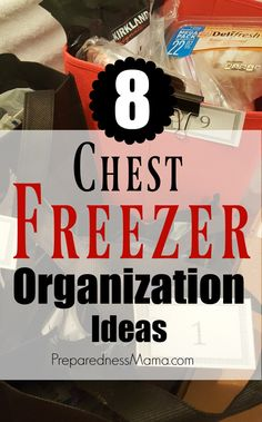 8 Family Friendly Chest Freezer Organization Ideas Updated November It's amazing how quickly the organization plan you have for your freezer will get out of control. Deep Freezer Organization, Freezer Storage, Freezer Meals, Food Storage, Kitchen Organization, Storage Organization, Organize Freezer, Storage Ideas, Kitchen Organizers