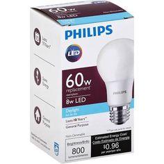 Google Express - Philips Light Bulb, LED, Daylight, 8 Watts: Staples