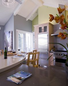 Breakers Beach House - contemporary - kitchen - Viscusi Elson Interior Design - Gina Viscusi Elson