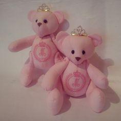 Lindas ursinhas para decorar a maternidade, a pedido da vovó Elena, de SP. Seja bem vinda princesa!