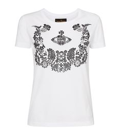 Optical White Floral Orb T-Shirt  Vivienne Westwood