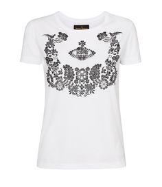 Optical White Floral Orb T-Shirt  Vivienne Westwood