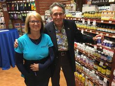 #SuperiorSource #SugarFree vitamins are available at Jimbo's Naturally.  Superior Souce National Sales Manager Stephen A. Downs with Jimbo store manager Tori.