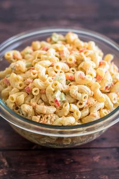 Small Macaroni Salad - Baking Mischief Food Truck, Tahini, Chefs, Best Macaroni Salad, Macaroni Salads, Spanish Macaroni Salad Recipe, Macaroni Pasta, Macaroni Recipes, Pesto
